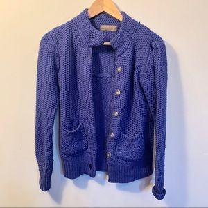 ModCloth Purple Button-Up Cardigan S